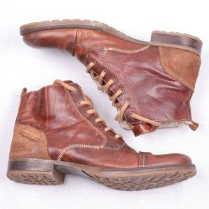 Bull Boxer Leather Boots Lace Shoes 8, 42